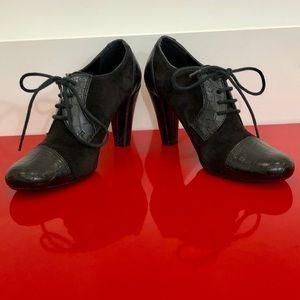 Franco Sarto leather black booties